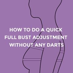Sewing Techniques Couture This is the first post in a 2 part series on doing a full bust adjustment on a sewing pattern without a dart. Techniques Couture, Sewing Techniques, Sewing Hacks, Sewing Tutorials, Sewing Tips, Sewing Lessons, Sewing Ideas, Dress Tutorials, Sewing Blogs