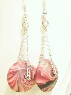 #Swirly Lentil Chain Earrings    share .. repin .. like