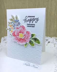 Altenew Cards, Lord Is My Strength, Joy Of The Lord, Pretty Cards, Embossing Folder, Happy Thoughts, Cut And Color, Watercolor Paper, Beautiful Day
