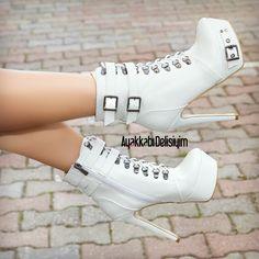 Beyaz Topuklu Ayakkabı #heels