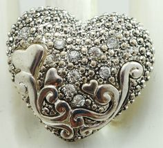 Unique Heart Ring/Silver/Rhinestone/Hearts/Gift by victoriascharms