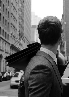 Black and white picture of an urban gentleman
