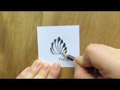 Zentangle - 10 Muster im Zeitraffer (Pattern Time-Lapse) #2 - YouTube