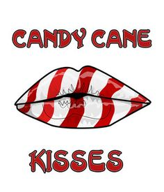 CHRISTMAS CANDY CANE KISSES CLIP ART PRINTABLE