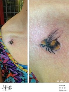 pretty bumble bee tattoos - Google Search
