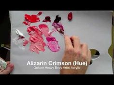 Basic acrylic colour mixing: how to mix a perfect purple| Part 2 of 2 - YouTube