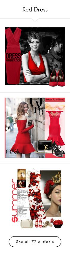 """Red Dress"" by yours-styling-best-friend ❤ liked on Polyvore"