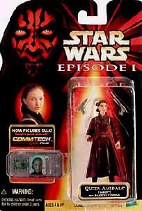 Star Wars Episode I Naboo Queen Amidala Action Figure with Blaster Pistols~BRANDNEW~FREE SHIPPING!