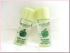 [Just in] Skin Food Fresh Apple Sparkling Pore Toner & Emulsion
