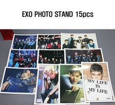 [KPOP] EXO Photo Stand 15pcs (Pack of 15) Korean Singers Goods 15 Sheets