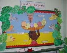 Handa's Surprise Display Boards, Display Ideas, Handas Surprise, Foundation Stage, Out Of Africa, Classroom Displays, Swallow, Reception Ideas, Primary School