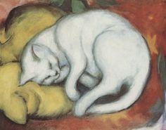 Franz Marc White Cat
