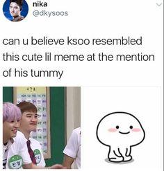 Kyungsoo being cute Kyungsoo, Hunhan, Exo Ot12, Chanyeol, Exo Memes Funny, Kim Minseok, Xiuchen, Exo Do, Do Kyung Soo