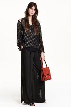 Pantalon ample en mousseline | H&M