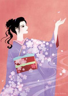 Japan Beauty「桜舞う」