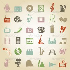 Art Icon 3 #GraphicRiver Set of icons on a theme art. The vector illustration…