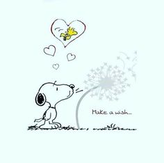 Snoopy and Woodstock. Snoopy blowing on a dandelion. Make a wish. Peanuts Snoopy, Snoopy Feliz, Snoopy Und Woodstock, Peanuts Cartoon, Snoopy Comics, Bd Comics, Snoopy Tattoo, Snoopy Images, Snoopy Pictures