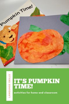 You'll love sharing the classic read aloud, It's Pumpkin Time, with toddlers and preschoolers. The simple story and clear pictures make this storybook a must-have for home and the classroom. A pediatric speech-language pathologist shares supporting activities for language development.