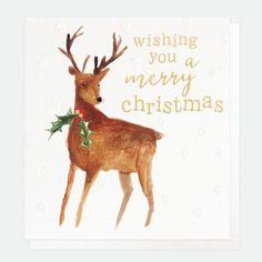 Caroline Gardner Painted Reindeer Christmas Cards Pack of 8 - Beaumonde Reindeer Christmas, Christmas Cards, Merry Christmas, Caroline Gardner, Scandinavian Christmas Decorations, Christmas Illustration, Deer Antlers, Happy New, Charity