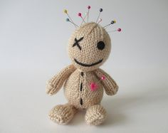 Voodoo Doll toy knitting pattern by fluffandfuzz on Etsy