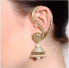 Gorgeous Ear Cuff with Jhumka #Earrings
