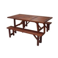 68 Inch X 34 Inch Harvest Table With Two 60 Inch Benches Great American Woodies Picnic Tab