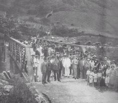 El presidente de Venezuela, general Juan Vicente Gómez inaugura la carretera Trasandina, 21 de julio de 1925.