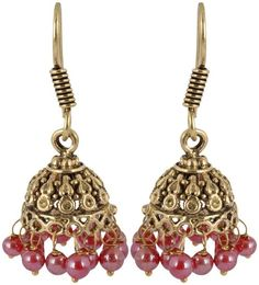 Waama Jewels Golden Brass Jhumki Earrings for Women (WJ087) [Jewellery] - Waama Jewels Earring