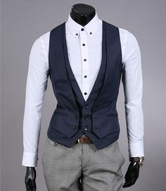 Fashion Classic Stylelish Men's Vest Custom made 1013. $39.00, via Etsy.