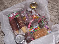 Ice cream sundae gift basket-- did this for the adult gift exchange! It was a hit!
