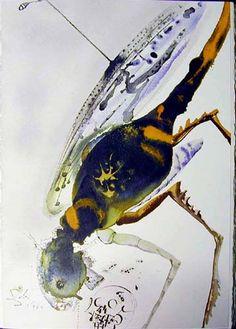 Locusta et bruchus, 1967 by Salvador Dali. Expressionism, Symbolism. religious painting