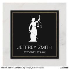 Justice Scales | Lawyer | Law Square Business Card Justice Scale, Law And Justice, Shop Justice, Lawyer Business Card, Business Card Design, Real Estate Gifts, Attorney At Law, Elegant Business Cards, Dog Design