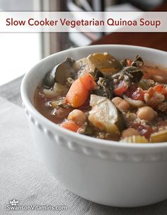 Slow Cooker Vegetarian soup Recipes is One Of the Beloved soup Of Numerous People Round the World. Besides Easy to Make and Excellent Taste, This Slow Cooker Vegetarian soup Recipes Also Health Indeed. Slow Cooker Soup Vegetarian, Slow Cooker Recipes, Crockpot Recipes, Soup Recipes, Whole Food Recipes, Vegetarian Recipes, Cooking Recipes, Healthy Recipes, How To Cook Zucchini