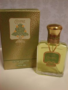 Vintage CHYPRE Perfume Coty - Chypre de COTY Eau de Toilette New in Box 1.75 Oz Perfume Spray Very Rare Art Deco Box