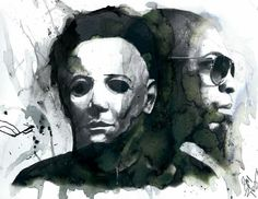 another awesome piece by the one and only Zach Woolsey! MMM (Michael Myers Mask) - Tech N9ne ^S^❤