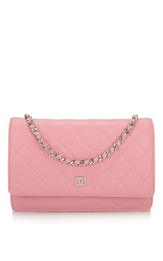 Chanel Blush Pink Lambskin Wallet On Chain 1516c67cecde1