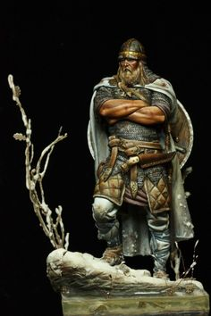 Viking warrior figurine by Pegaso Models. Viking Warrior, Viking Life, Viking Art, Viking Woman, Vikings, Asian History, British History, Thor, Military Figures