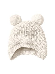 British Made Grey Baby Girl Princess Cute Decorative Frilly Knitted Pom Pom Newborn Baby Hats