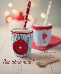 Bon après midi ! #bonapresmidi gouter boisson tricot