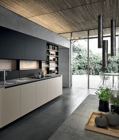 Find the best modern, contemporary, or traditional kitchen cabinets at Aran Cucine in San Diego. Visit us today to view our updated display. Kitchen Tiles Design, Modern Kitchen Design, Bathroom Interior Design, Kitchen Interior, Traditional Kitchen Cabinets, Taupe Kitchen, Small Apartment Design, Trendy Home Decor, Cuisines Design