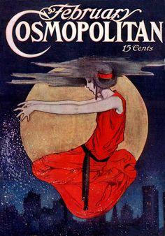 Vintage Cosmopolitan Magazine cover.