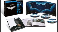 Batman The Dark Knight Trilogy Blu-ray Movie Box Set Collection
