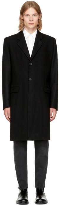 Éditions M.R Black Wool Classic Overcoat