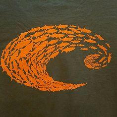 Costa Ladies Schoolin' T-shirt Ladies gray shirt  with orange schoolin' design on back.  Size  ladies Large . Costa  Tops Tees - Short Sleeve