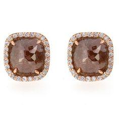 Diamond And Gemstone Stud Earrings