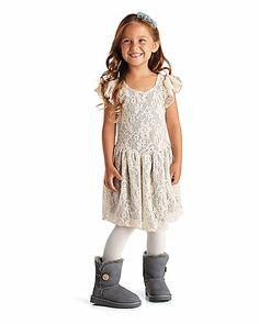 lace skater girls dress