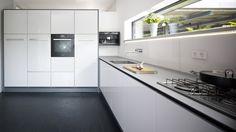 White clean minimalistic kitchen