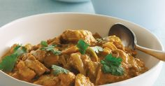 This super-easy satay chicken curry is ready in just 30 minutes.