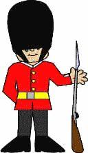 England themed activities - palace guard paper craft