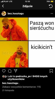 Polish Memes, Funny Mems, Best Comments, Wtf Funny, Haha, Have Fun, Humor, My Love, Funny Memes